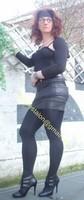 minijupe noir similie cuir 27