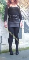 minijupe noir similie cuir 40