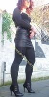 minijupe noir similie cuir 41