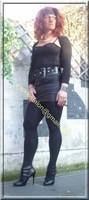 minijupe noir similie cuir 42