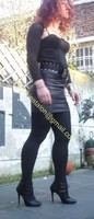 minijupe noir similie cuir 43