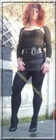 minijupe noir similie cuir 46