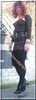 minijupe noir similie cuir 47