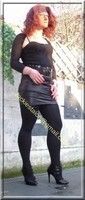 minijupe noir similie cuir 48