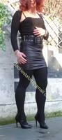 minijupe noir similie cuir 50