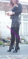 minijupe noir similie cuir