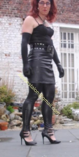 Legging similie cuir et jupe cuir 1