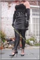 Legging similie cuir et jupe cuir 2