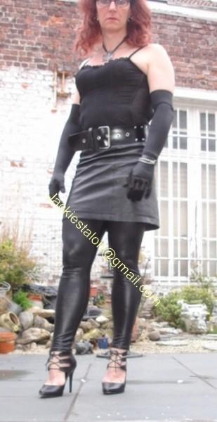 Legging similie cuir et jupe cuir 5