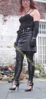 Legging similie cuir et jupe cuir 6