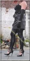Legging similie cuir et jupe cuir 12