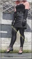 Legging similie cuir et jupe cuir 14