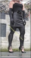 Legging similie cuir et jupe cuir 15