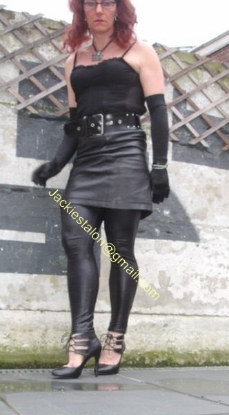 Legging similie cuir et jupe cuir 16