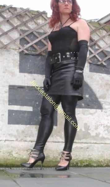 Legging similie cuir et jupe cuir 17