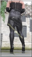 Legging similie cuir et jupe cuir 22
