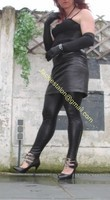 Legging similie cuir et jupe cuir 24