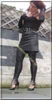 Legging similie cuir et jupe cuir 30
