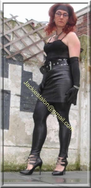 Legging similie cuir et jupe cuir 31
