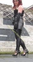 Legging similie cuir et jupe cuir 34