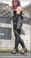 Legging similie cuir et jupe cuir 35