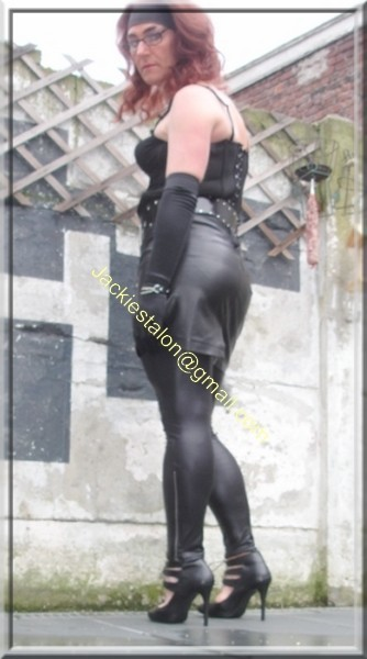 Legging similie cuir et jupe cuir 39