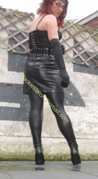 Legging similie cuir et jupe cuir 40