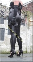Legging similie cuir et jupe cuir 38