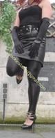 Legging similie cuir et jupe cuir 46
