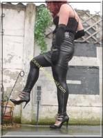 Legging similie cuir et jupe cuir 47