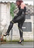 Legging similie cuir et jupe cuir 48