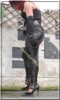 Legging similie cuir et jupe cuir 49