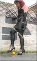 Legging similie cuir et jupe cuir 50