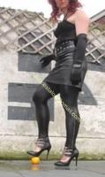 Legging similie cuir et jupe cuir 51
