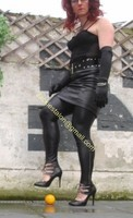 Legging similie cuir et jupe cuir 53