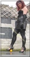 Legging similie cuir et jupe cuir 56