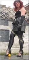 Legging similie cuir et jupe cuir 58