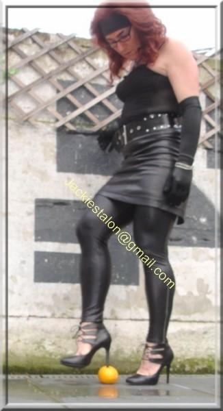Legging similie cuir et jupe cuir 60