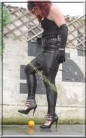 Legging similie cuir et jupe cuir 62
