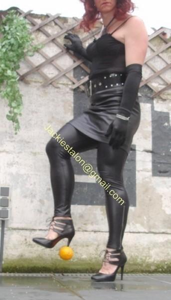 Legging similie cuir et jupe cuir 63