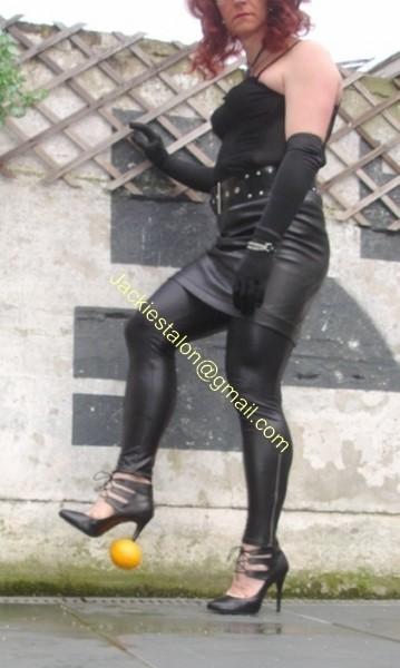 Legging similie cuir et jupe cuir 67