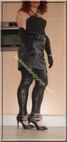 Legging similie cuir et jupe cuir 75