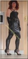 Legging similie cuir et jupe cuir 76
