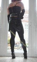 Legging similie cuir et jupe cuir 79
