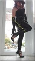 Legging similie cuir et jupe cuir 80 visage blog