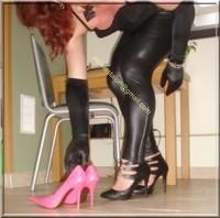 Legging similie cuir et jupe cuir 103