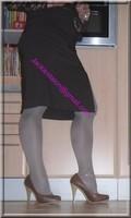 longue jupe marron avec fente