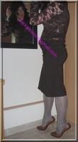 longue jupe marron avec fente avec visage 13