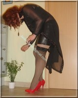 jupe cuir corset noir 56