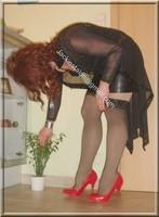 jupe cuir corset noir 57